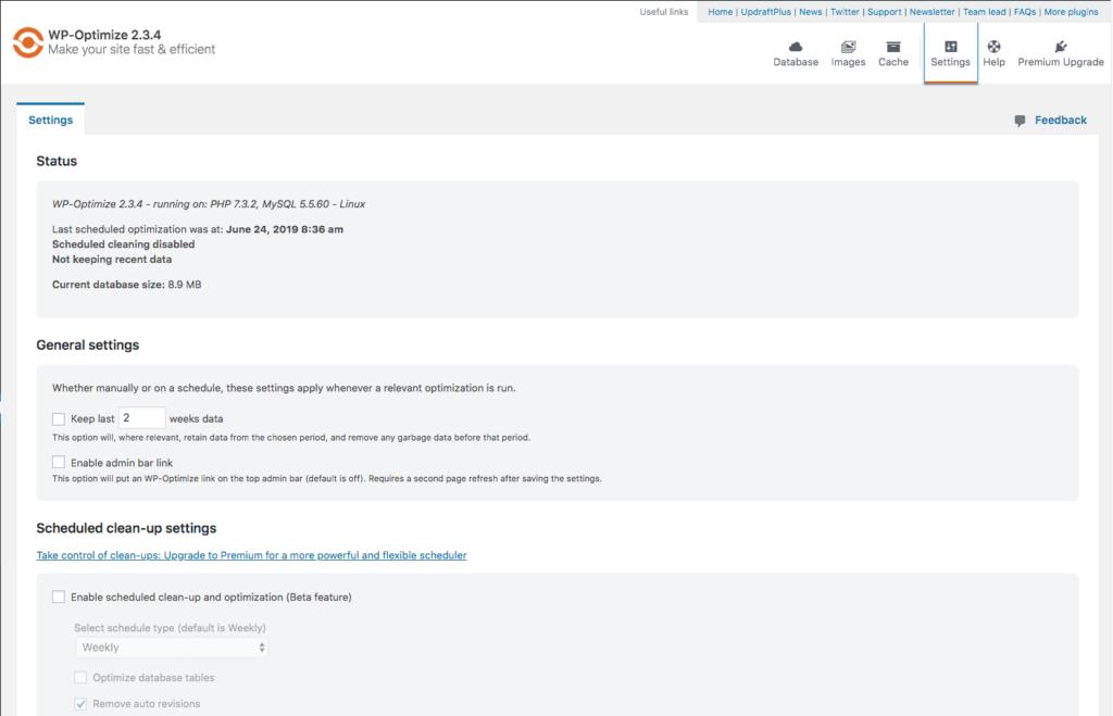 WP-Optimize SEO WordPress Plugin